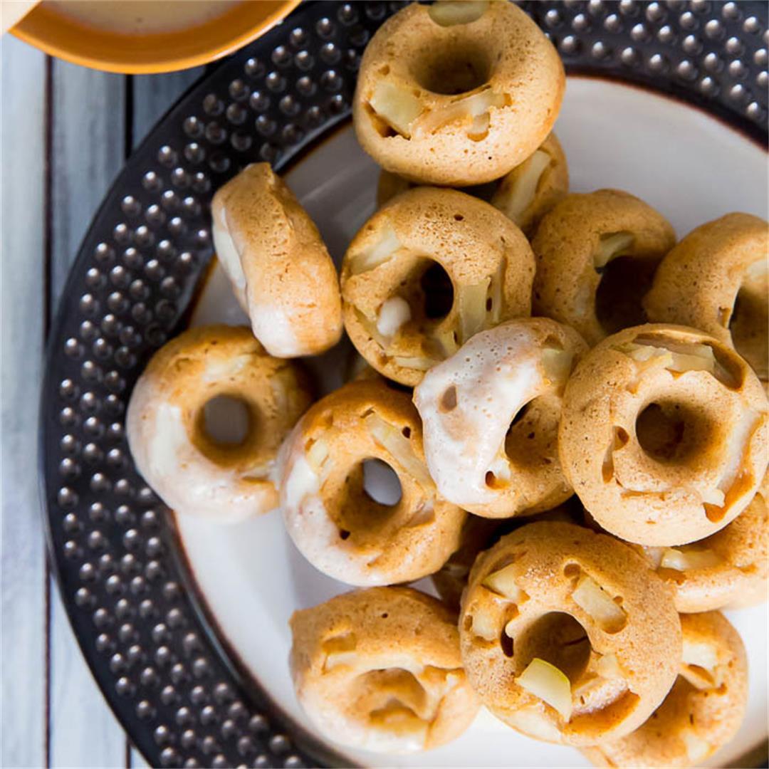 Baked Apple Donuts and Cider Glaze