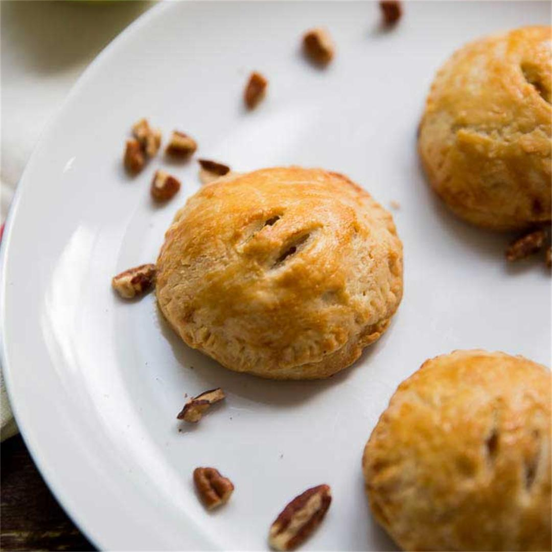 Apple Hand Pies with Brie and Pecans
