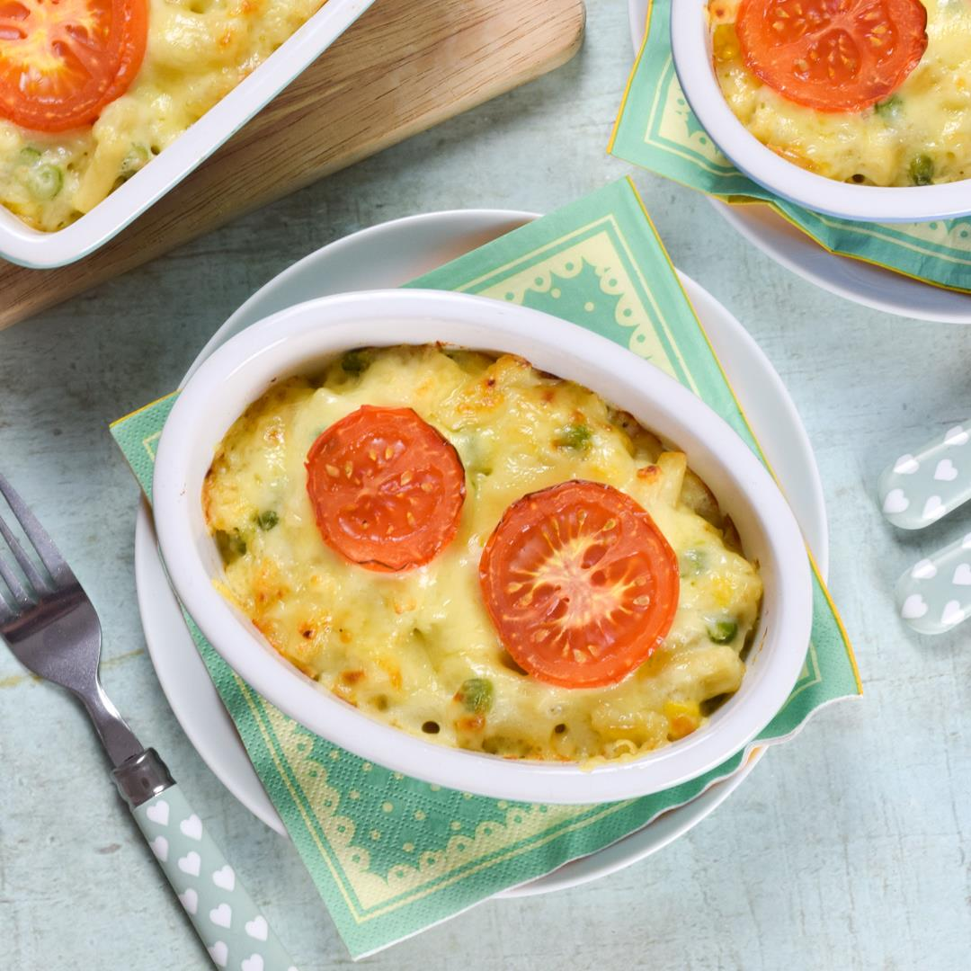 Macaroni Cheese with Extra Vegetables