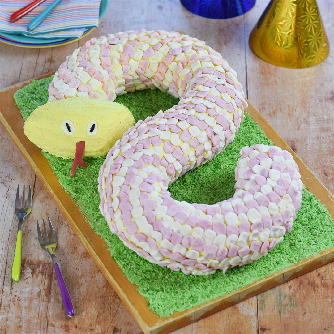 How to make a Snake Cake