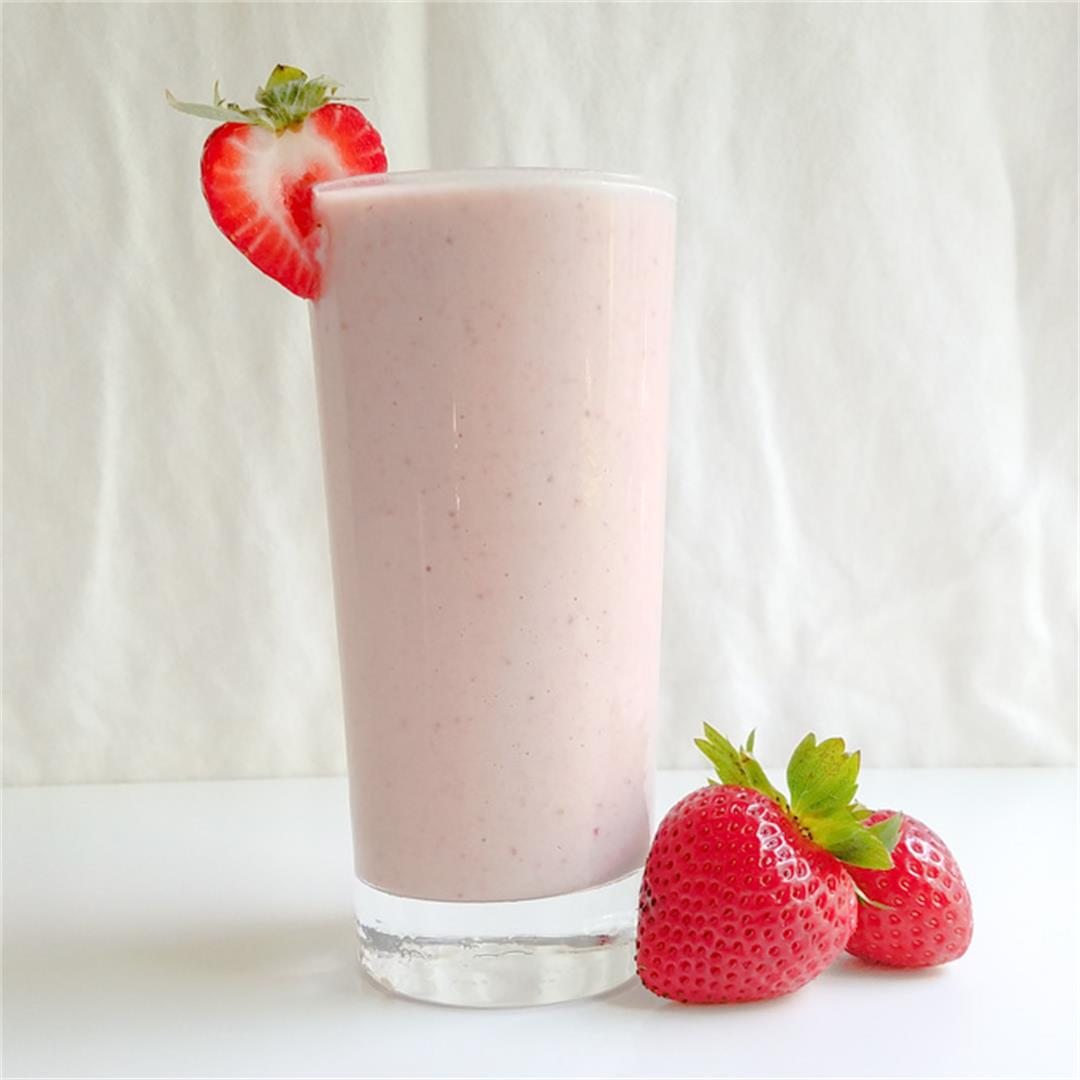 Strawberry Tahini Milkshake- Dairy Free