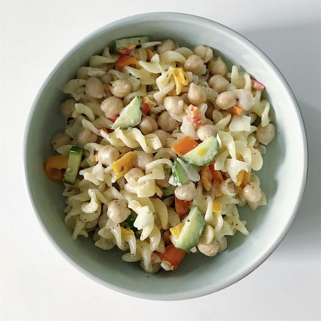 Vegan Chickpea Pasta Salad