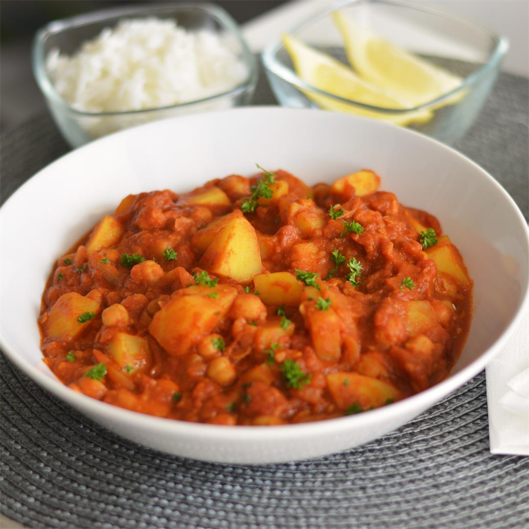 Vegan Potato and Chickpea Curry (GF)