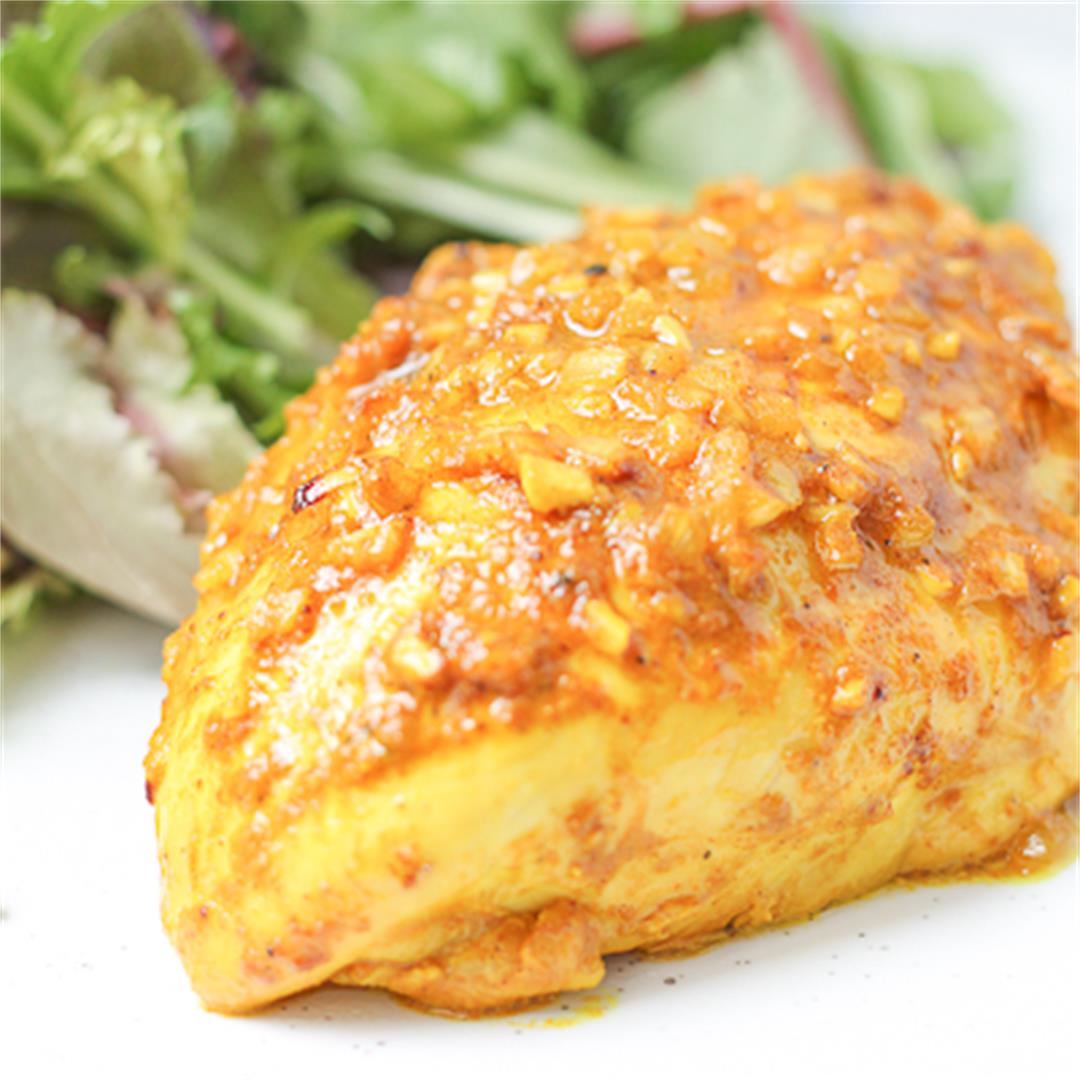 Baked Curry Spiced Chicken Breasts