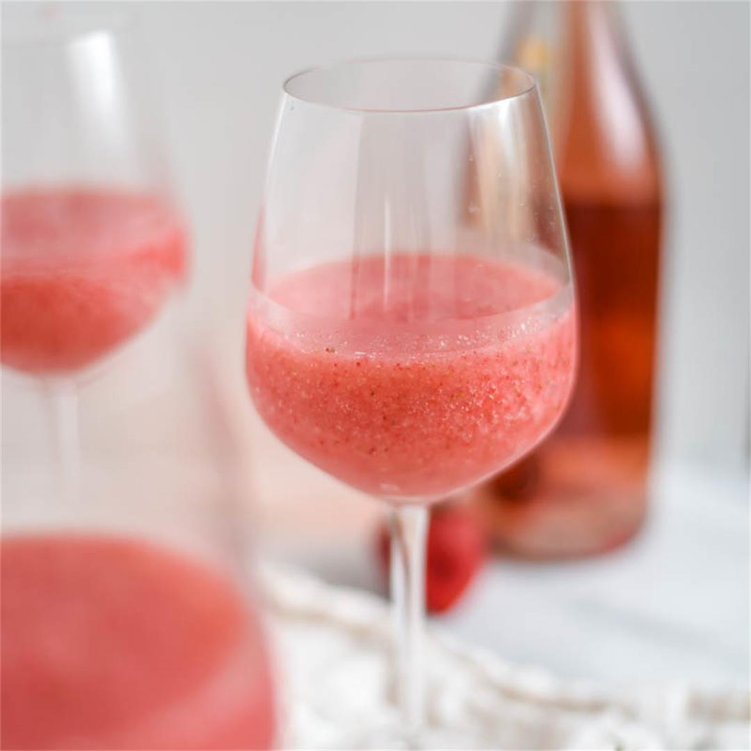 The Easiest Strawberry Frose