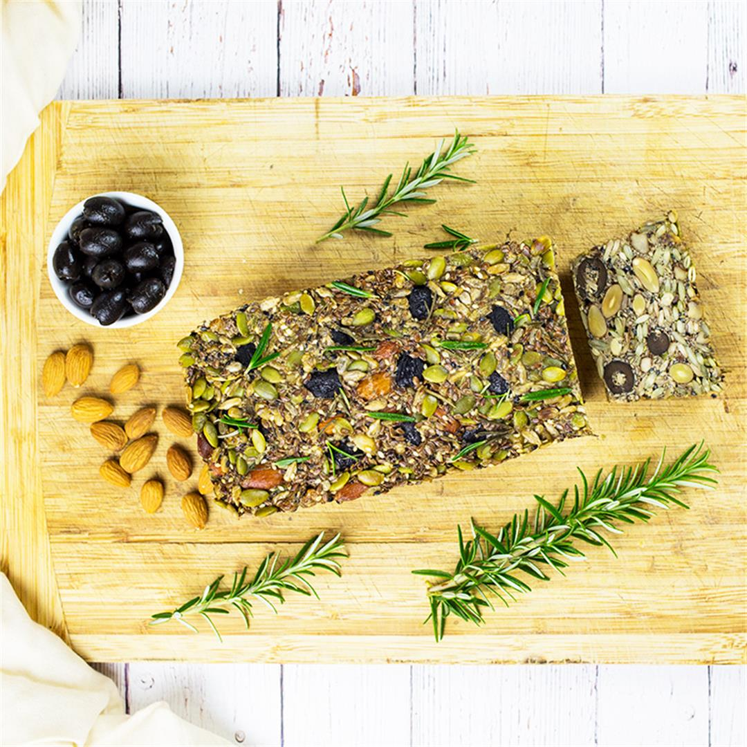 Paleo Nut & Seed Bread with Rosemary & Olives