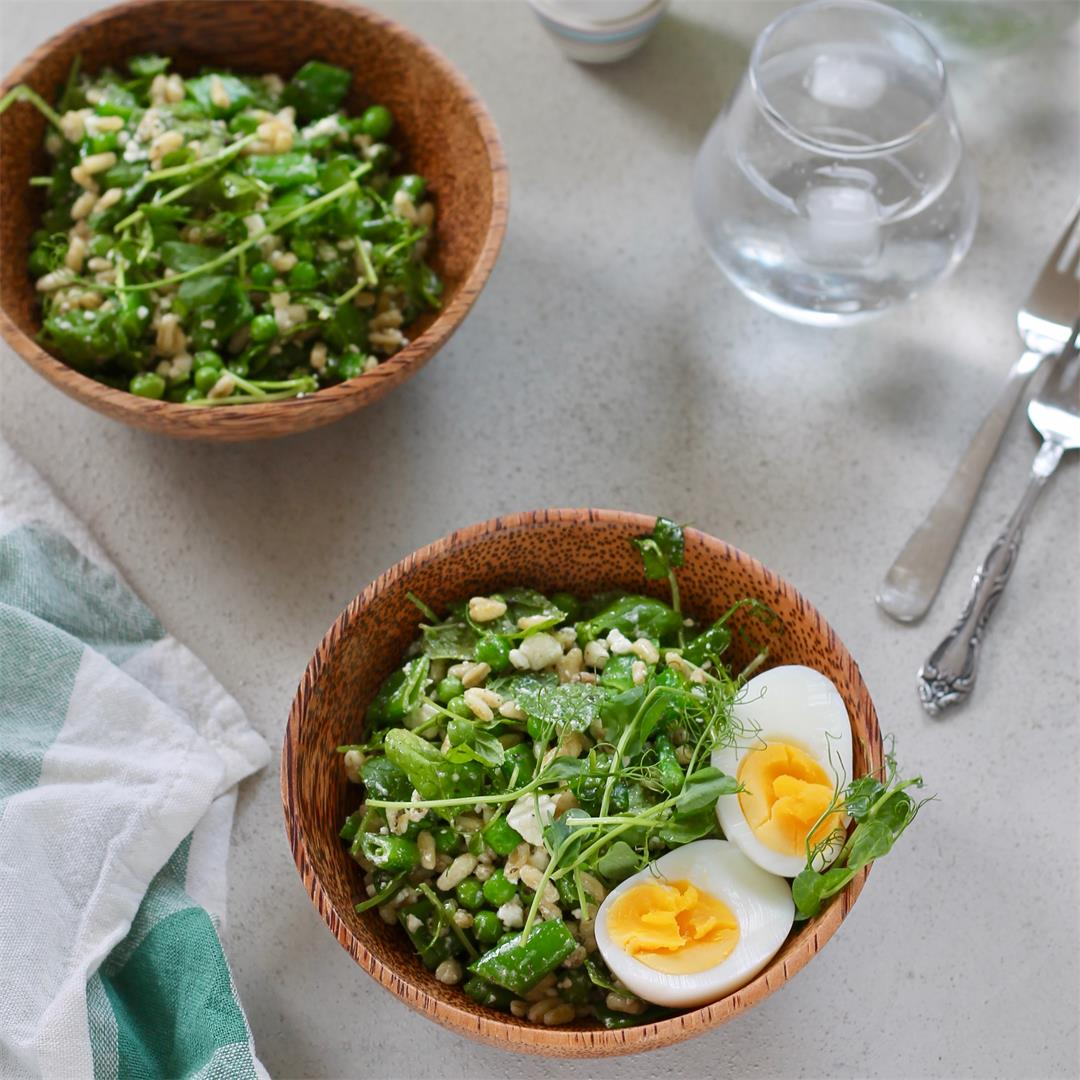 Three Pea Salad with Feta and Mint