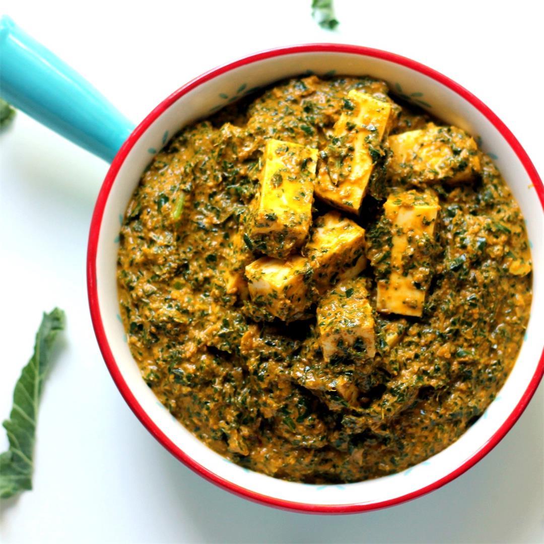 Kale Paneer Curry