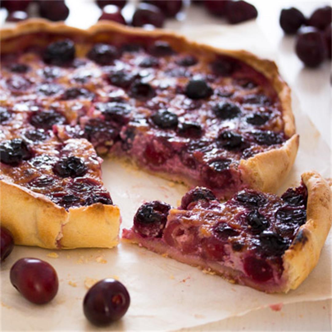 Swiss Fresh Cherry Tart or Flan – Kirschwähe – Swiss Food