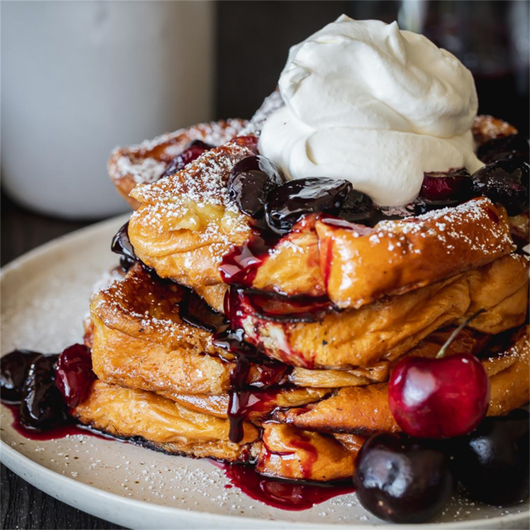Balsamic Cherry Brioche French Toast