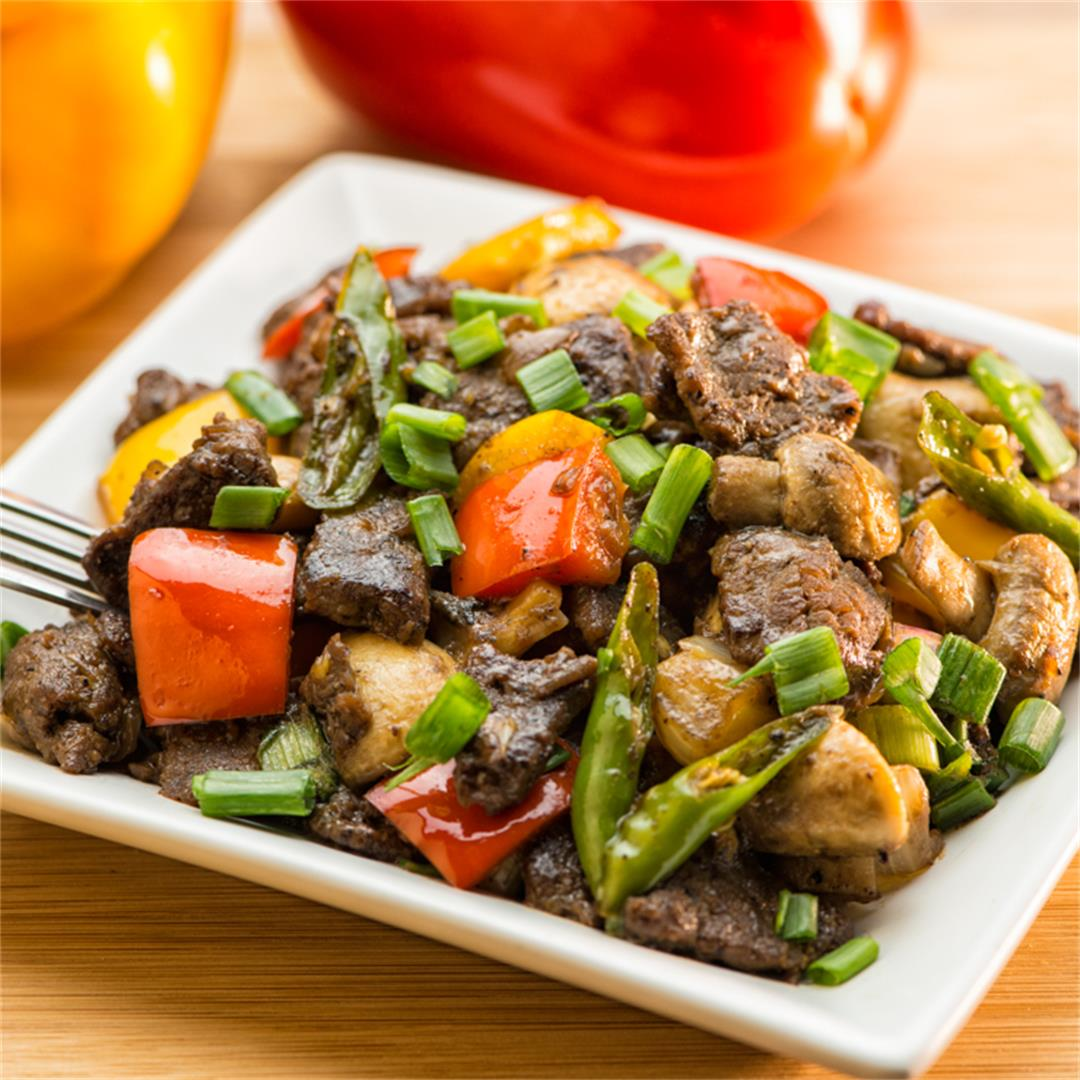 Beef with Mushroom (Stir fried Beef with Mushroom)