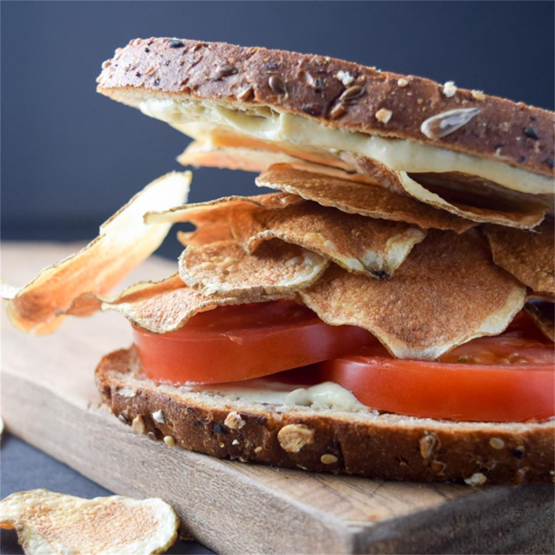 Low-Fat Potato Chip Tomato Sandwich
