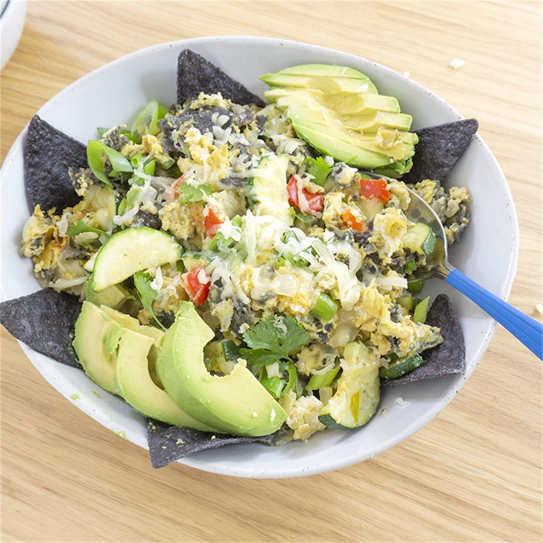 Green Chili and Zucchini Breakfast Eggs