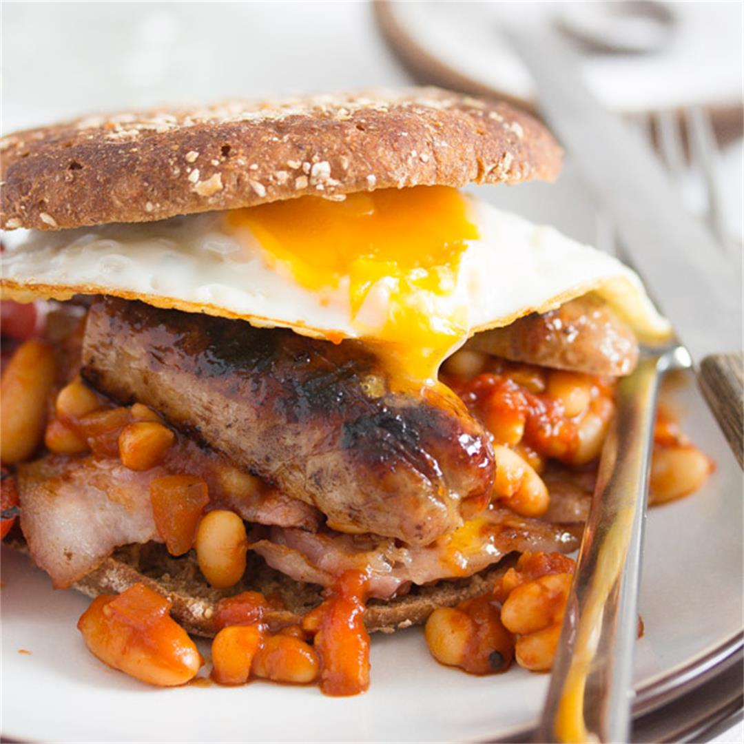 Full English Breakfast – English Food – with Baked Beans Recipe