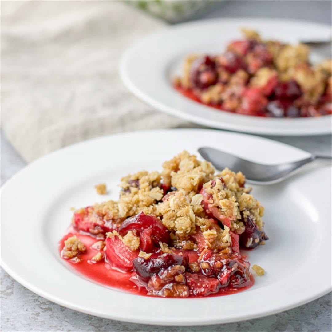 Cherry Rhubarb Crisp