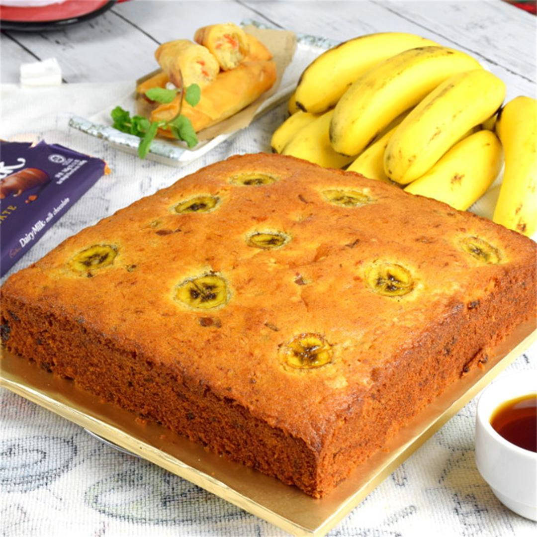 Banana butter cake