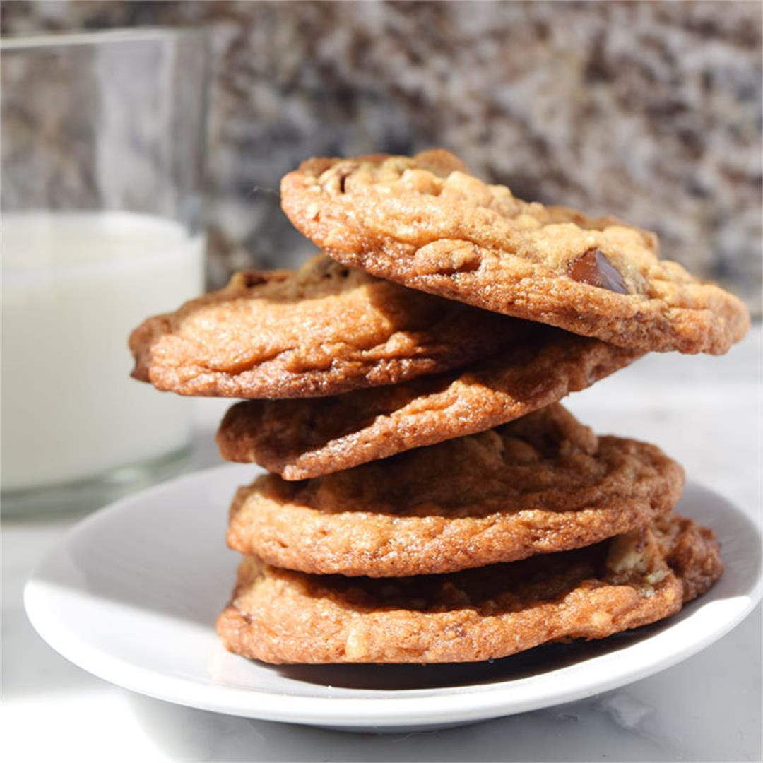 Nutty cookies are packed with pecans, pretzels and chocolate.