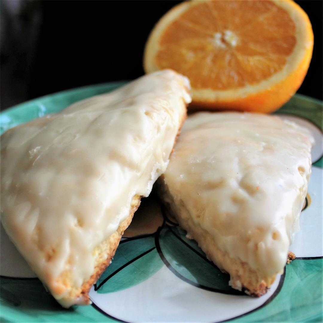 Orange Cream Scones with Orange Butter Glaze