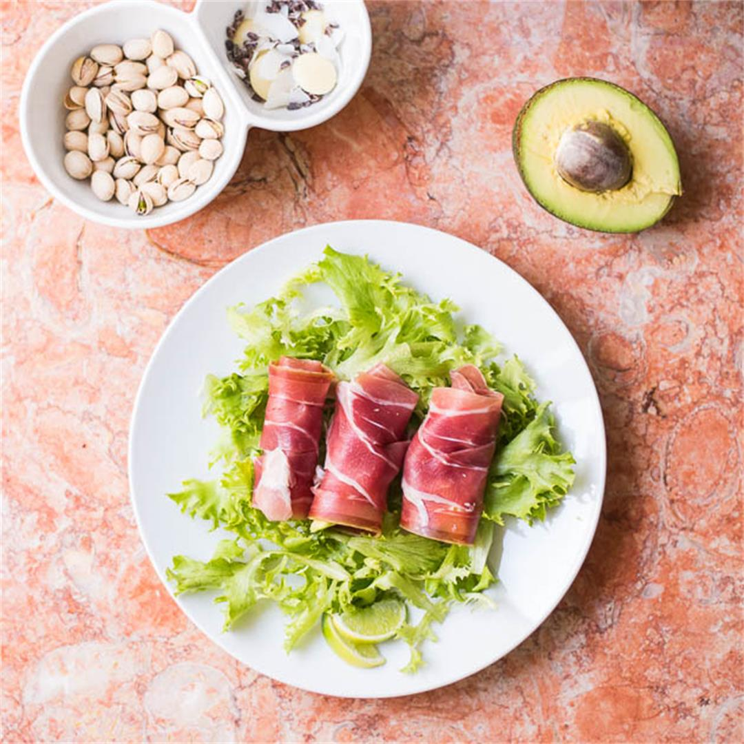 5-Min Prosciutto Avocado Fat Bomb Recipe [Paleo, Keto]