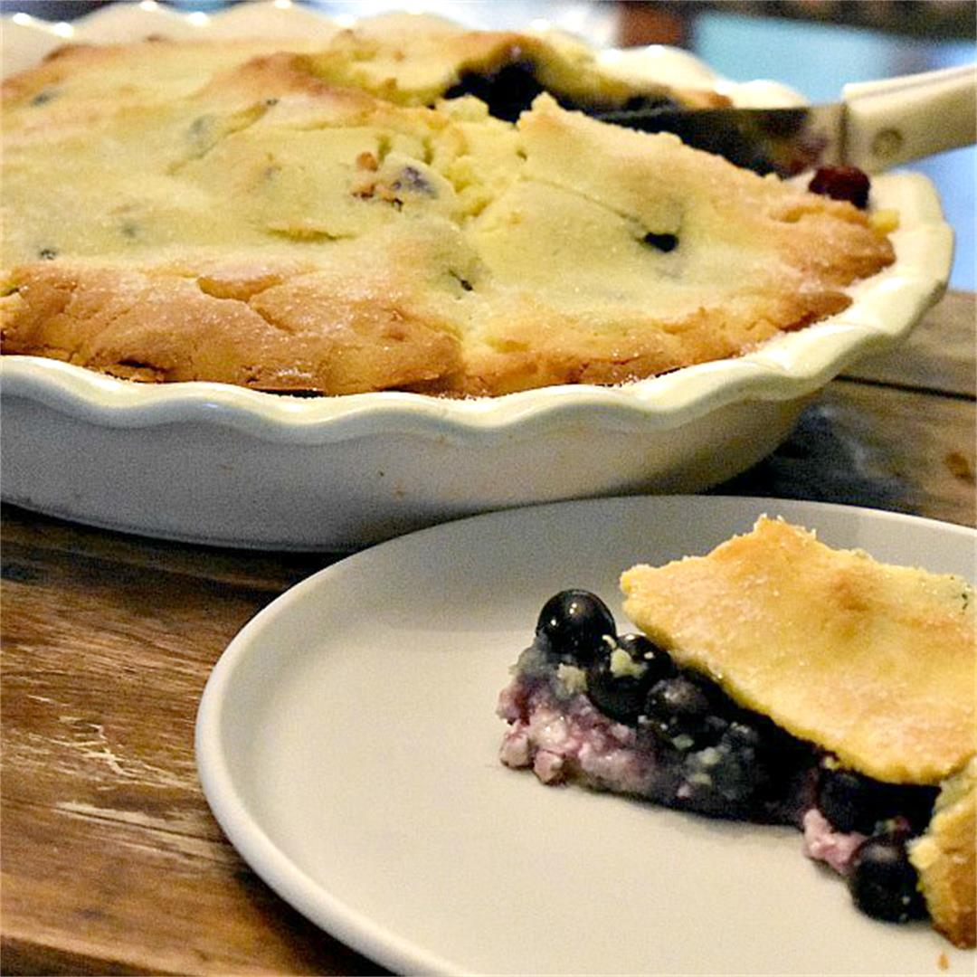 Recipe for keto blueberry pie