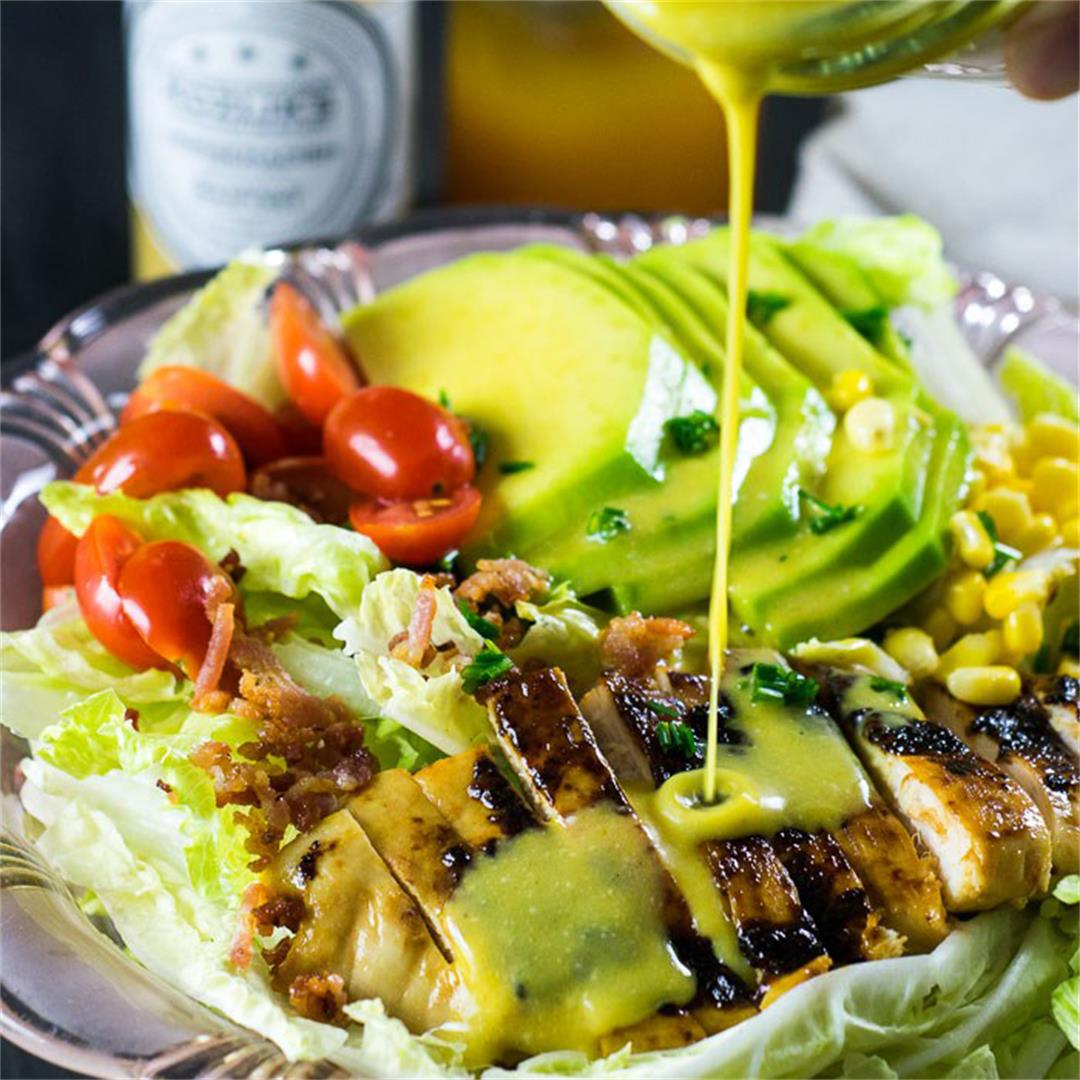 Chicken and Avocado Salad with Honey Mustard Dressing