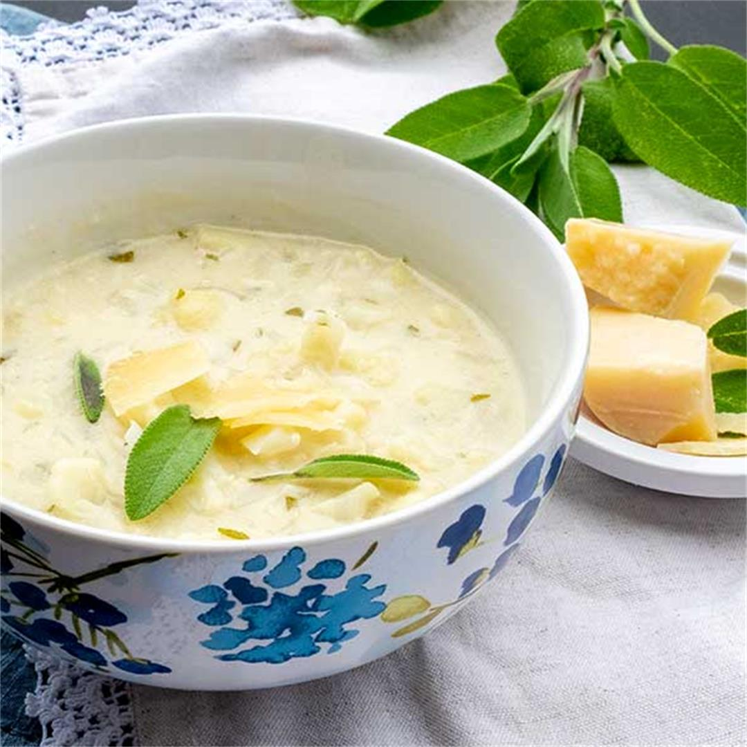 Cauliflower Sage And Asiago Soup