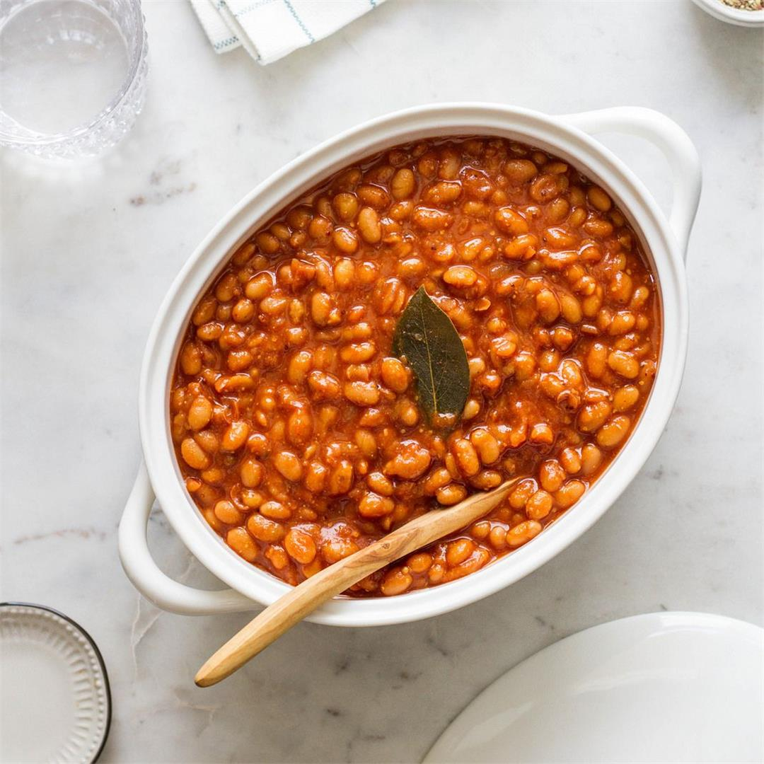 Healthy Baked Beans (Instant Pot or Slow Cooker)