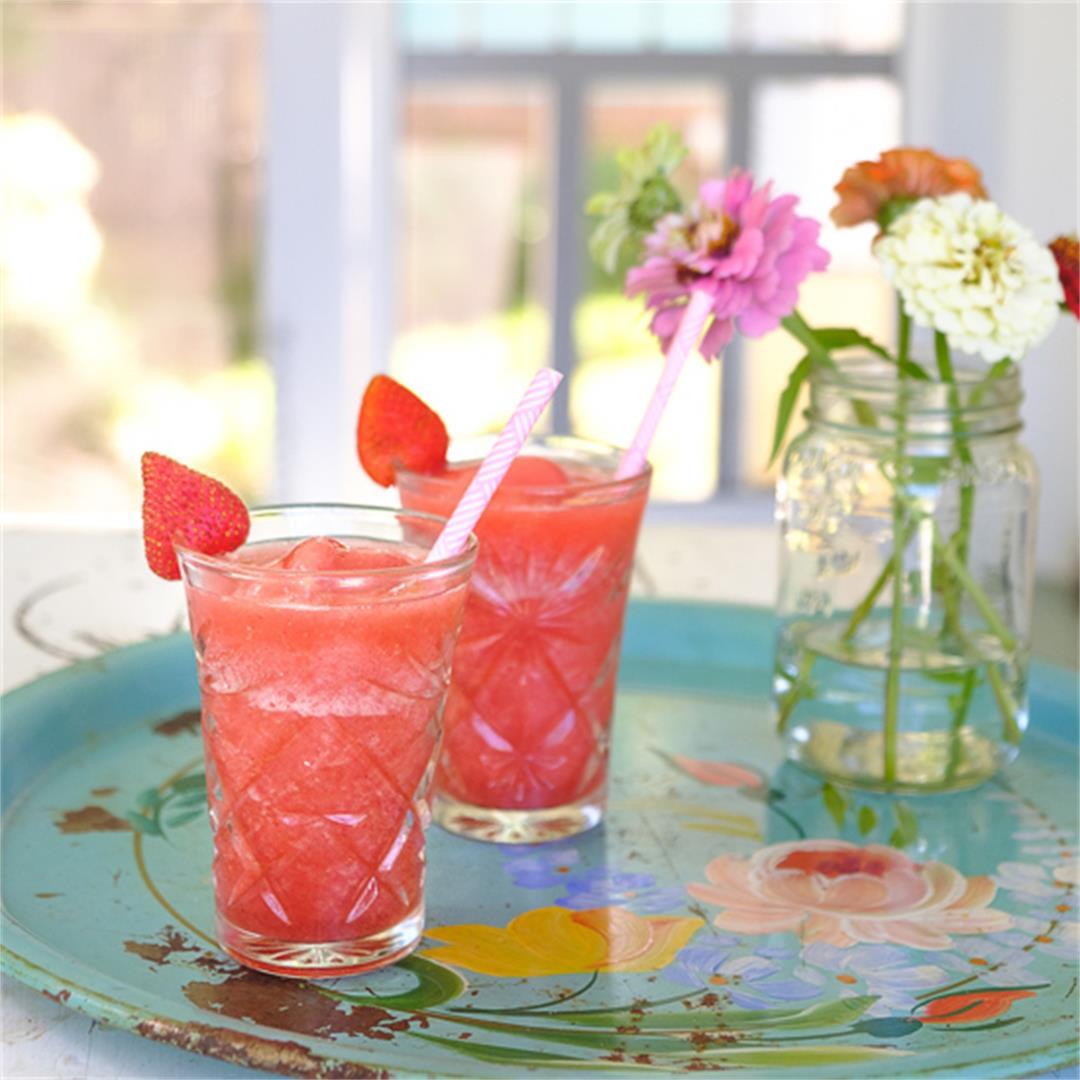 Strawberry Frosé (Frozen Rosé)