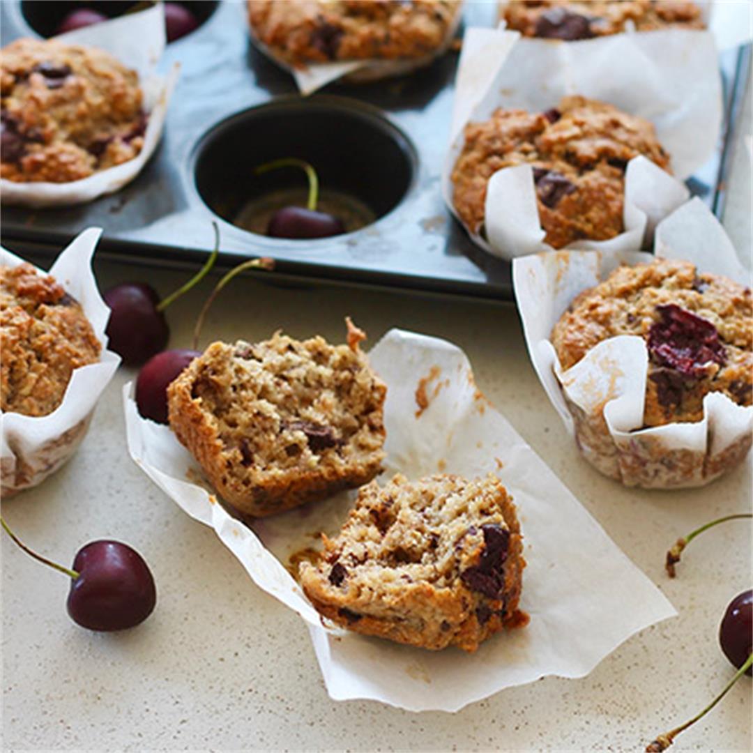 Healthy Cherry Muffins