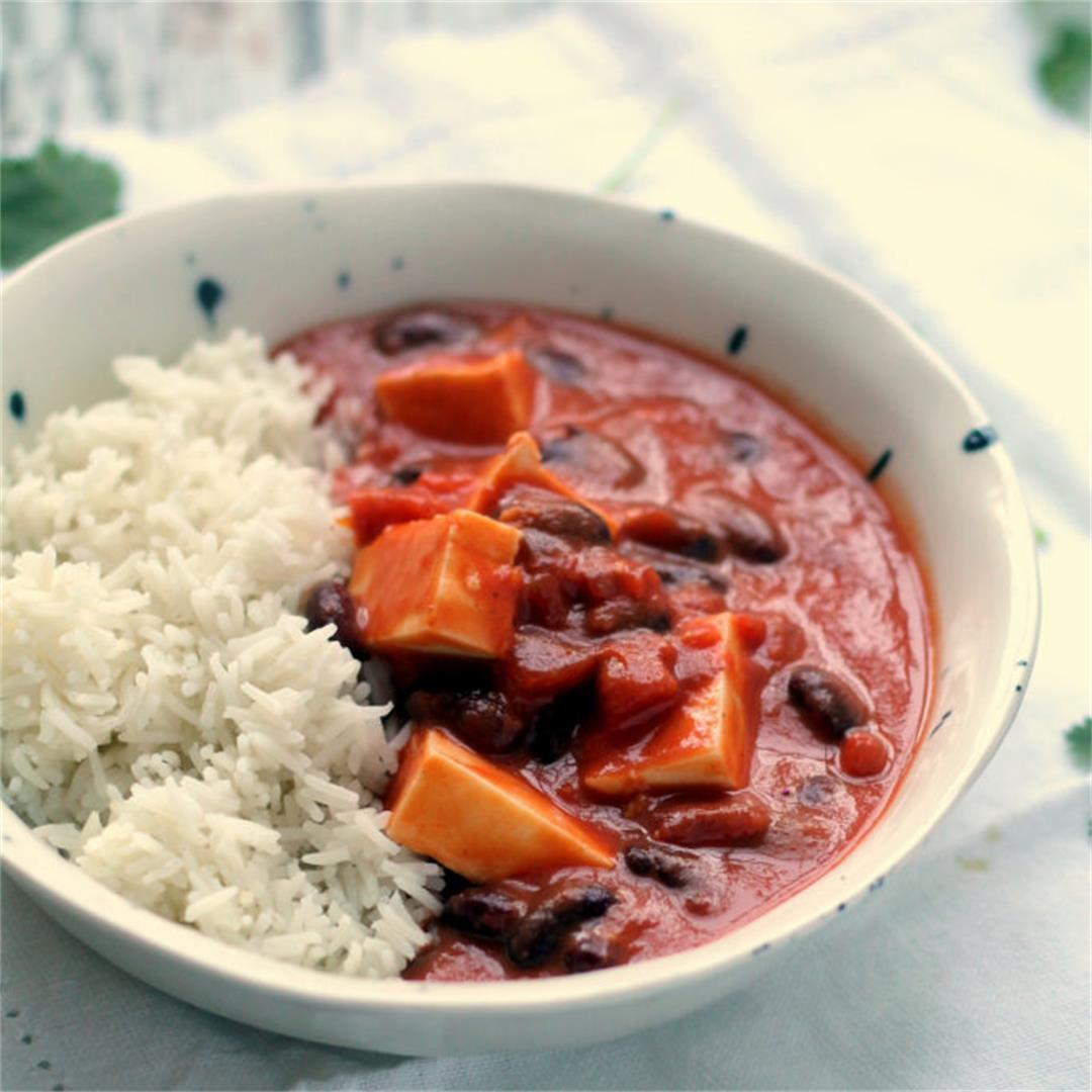 Easy Paneer & Kidney Bean Coconut Curry