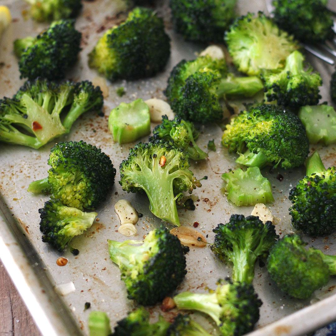 Toaster Oven Roasted Broccoli For Two