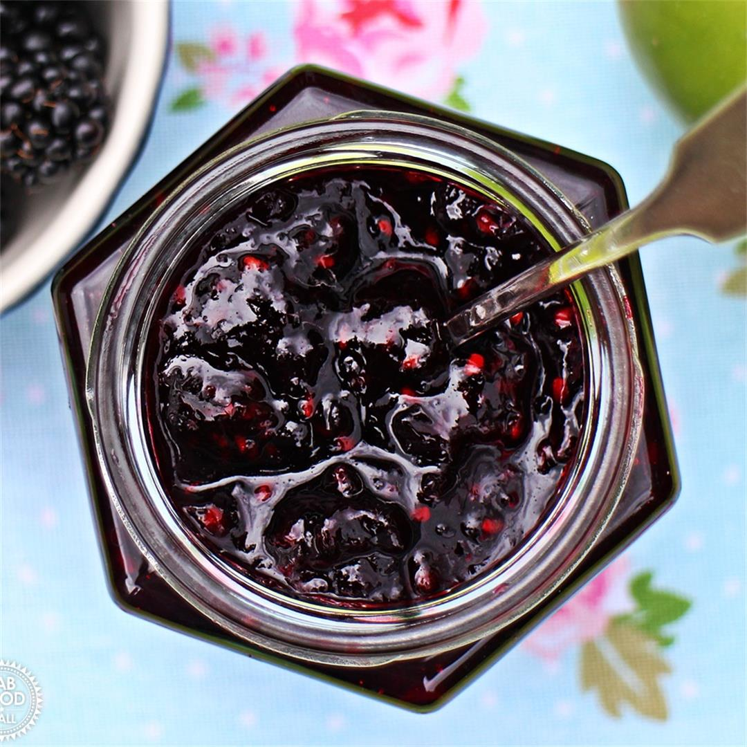 Easy Blackberry & Apple Jam