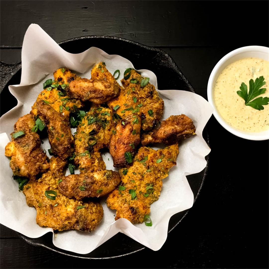 Gluten Free Creole Mustard Chicken Wings & Tenders