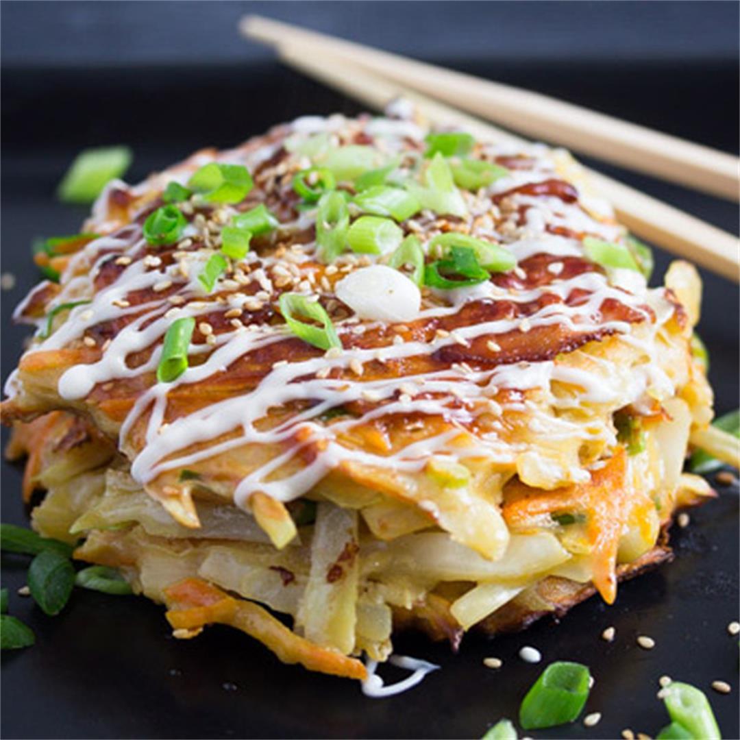 Okonomiyaki – Japanese Cabbage Pancakes – Japanese Food