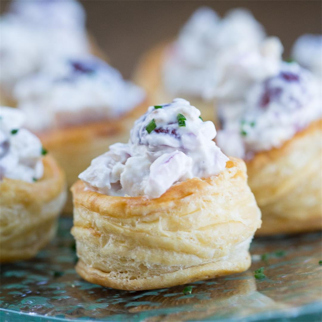 Chicken Salad in Puff Pastry Cups