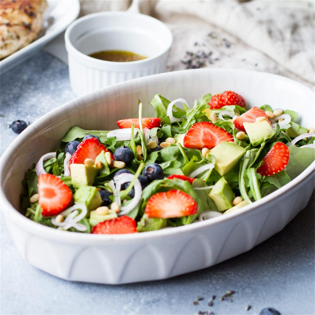 Strawberry Arugula Summer Salad