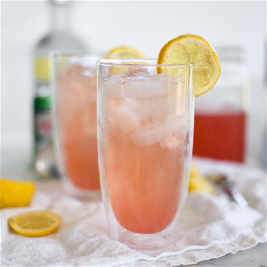 Rhubarb Lemon Vodka Cocktail