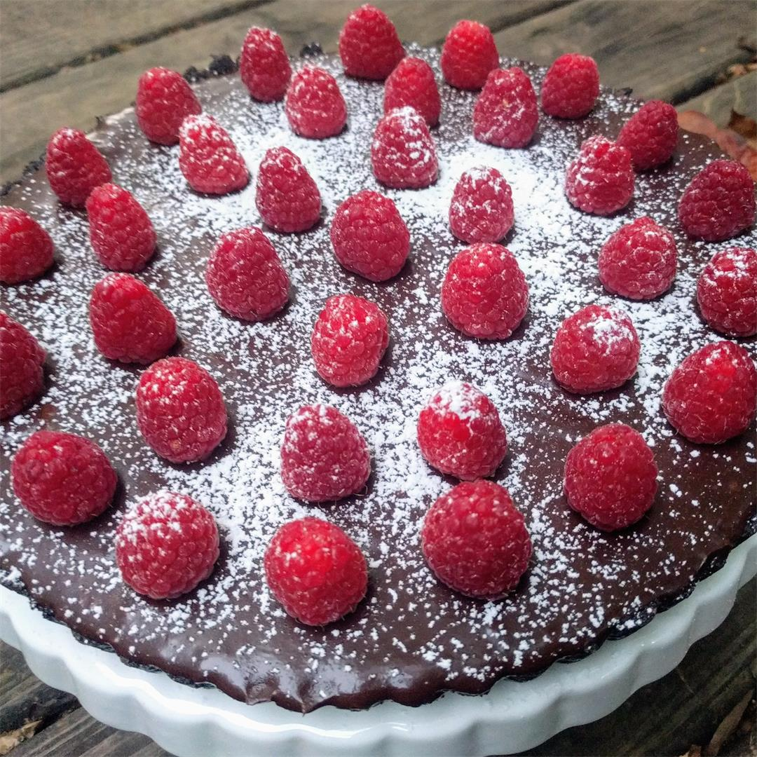 Dark Chocolate Raspberry Tart