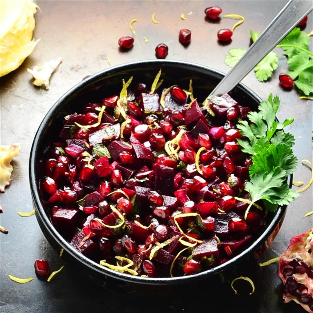 Pomegranate Beet Salsa Recipe