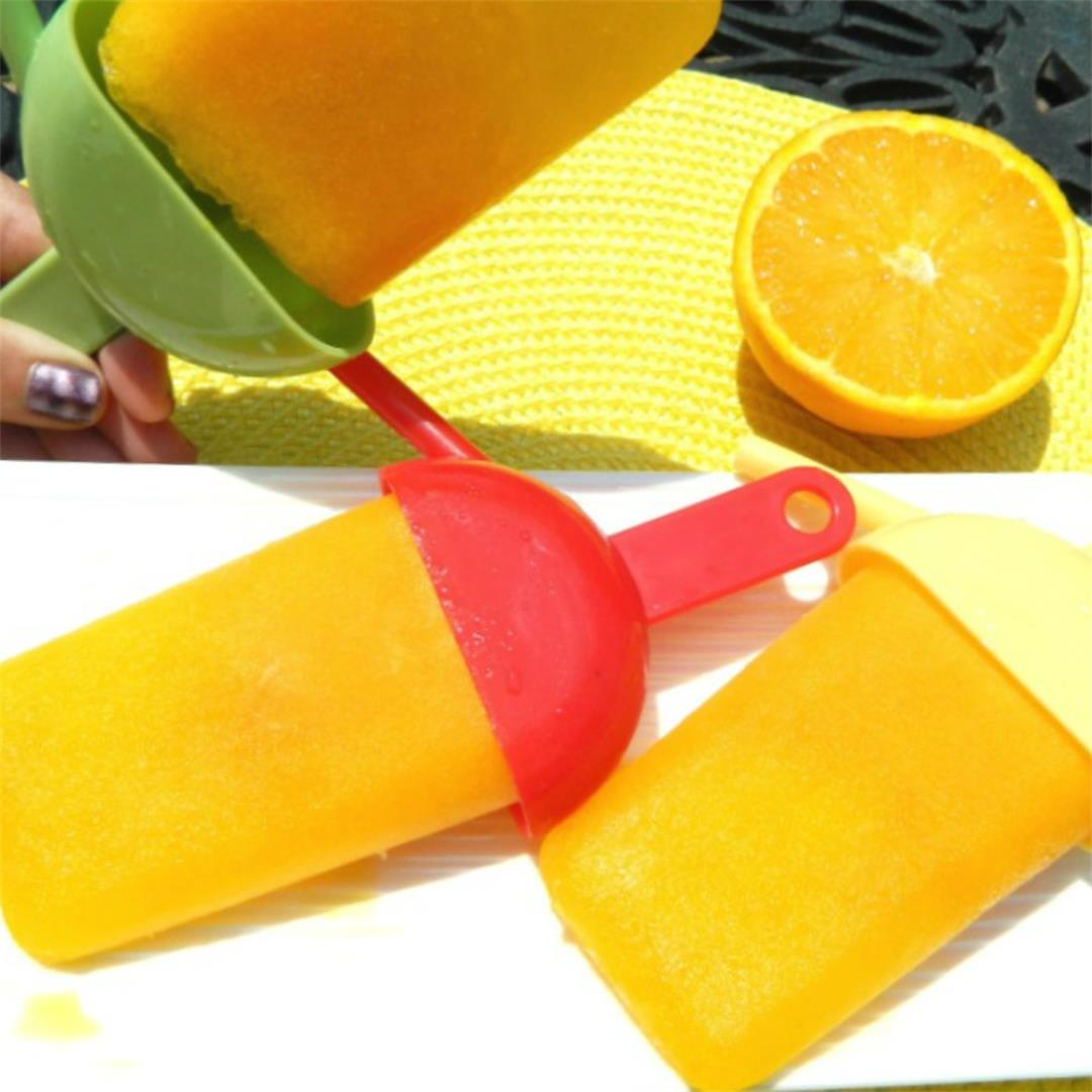 Orange Honey Ice Pops