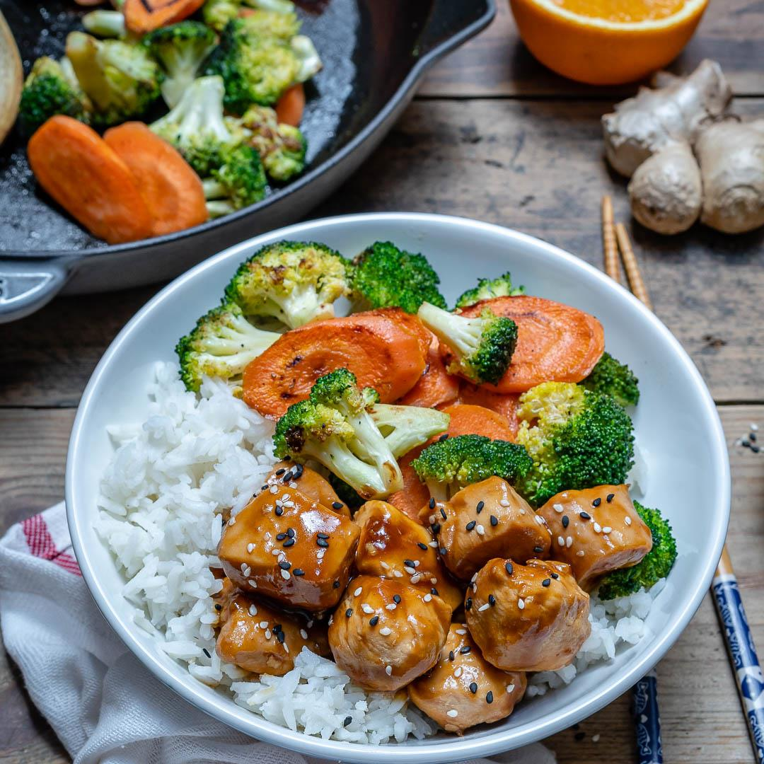 Easy Teriyaki Chicken With Rice And Vegetables