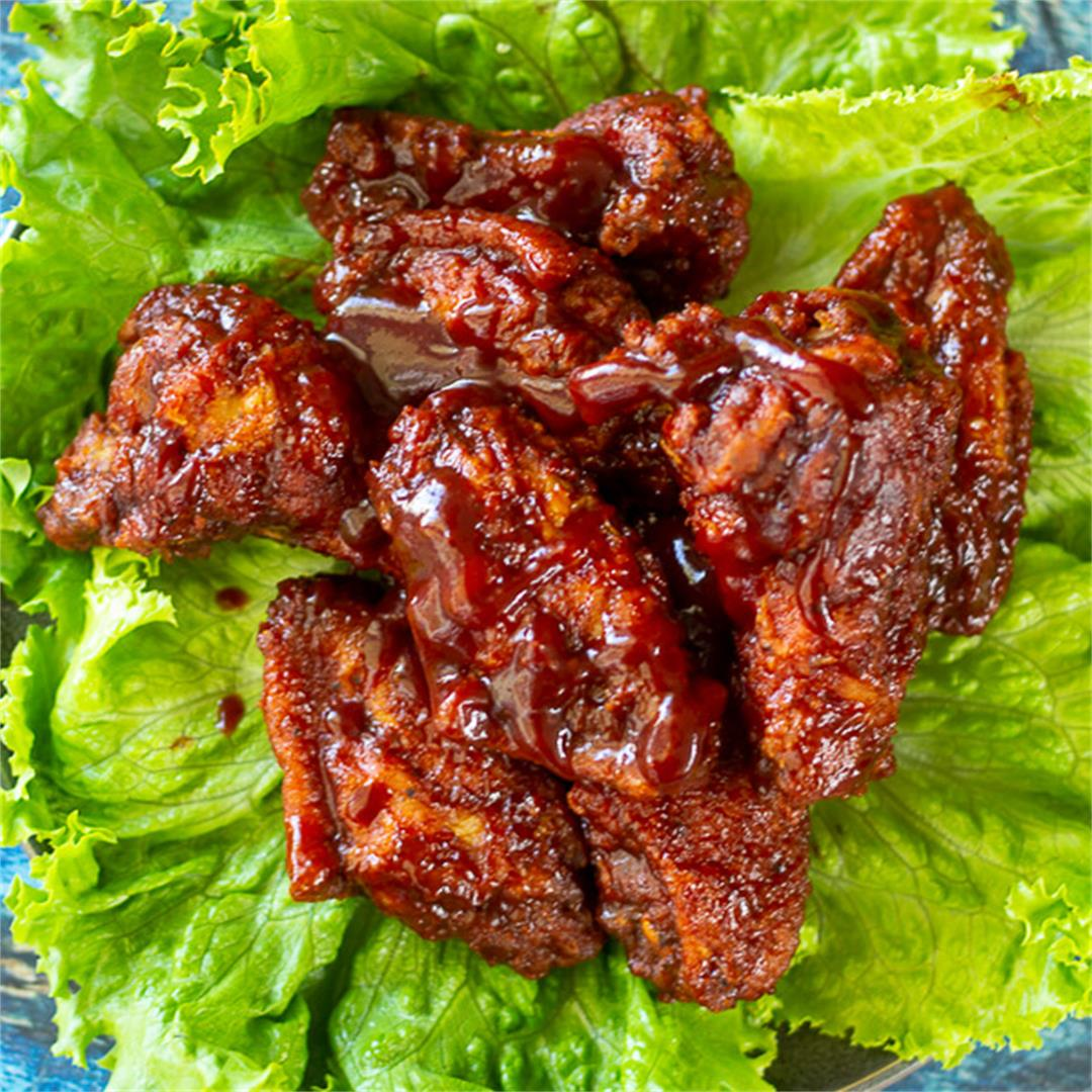 Sticky Sorrel BBQ Wings