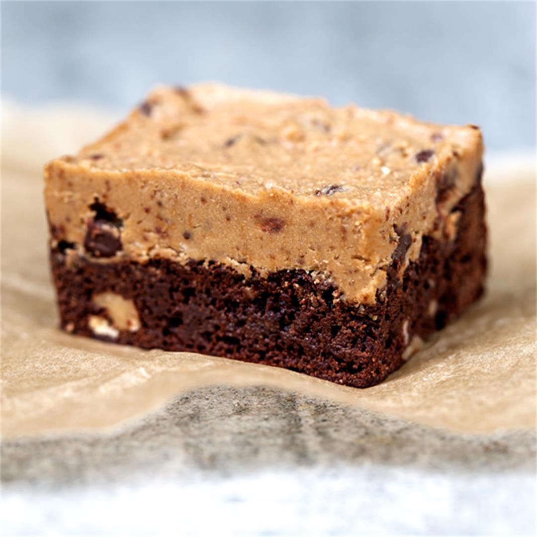 Half-Baked Bars (Brownies Topped with Cookie Dough)