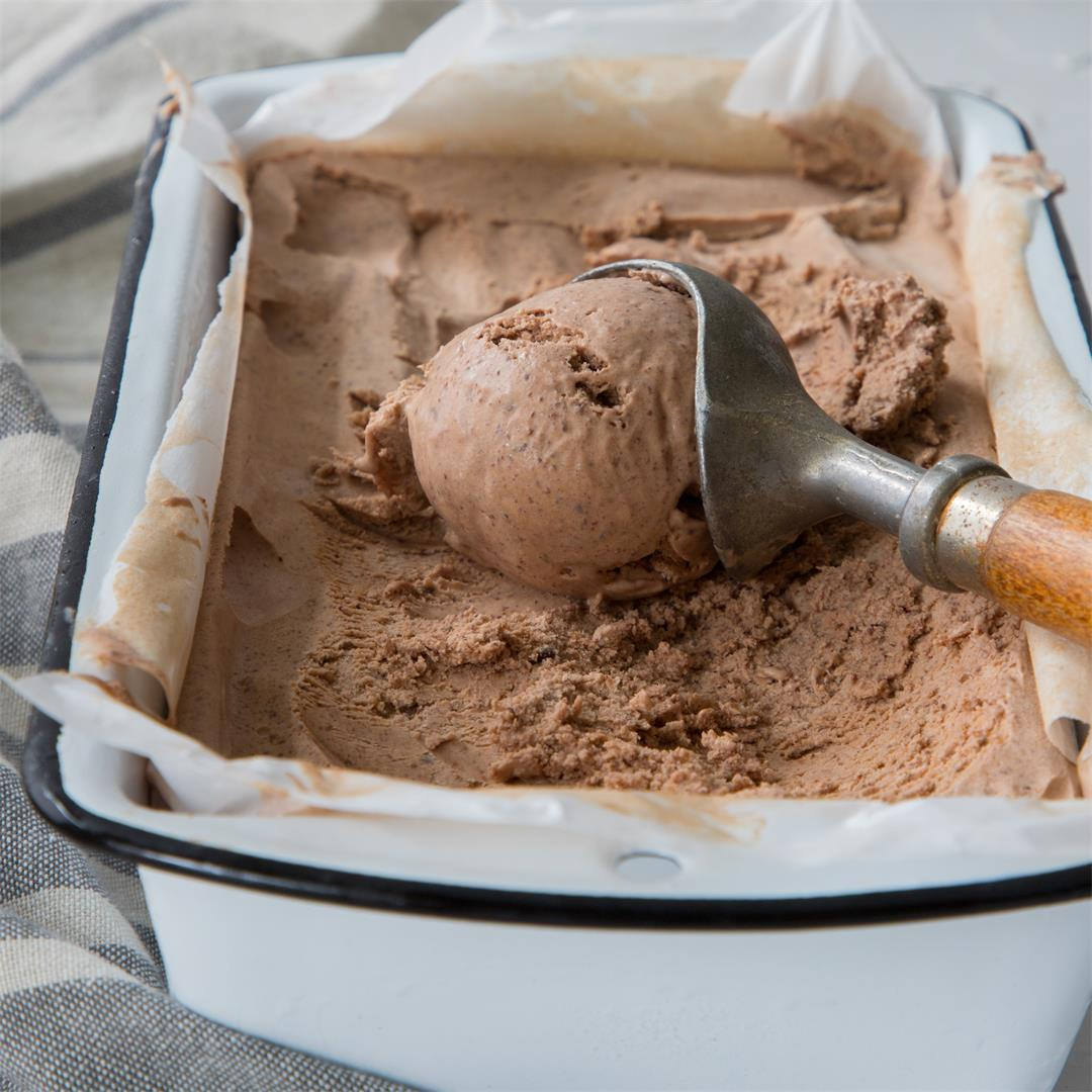No Churn Chili Chocolate Ice Cream