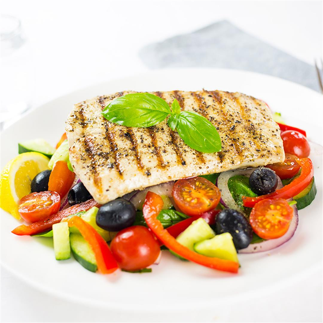 Greek Style Fish Salad (Paleo)