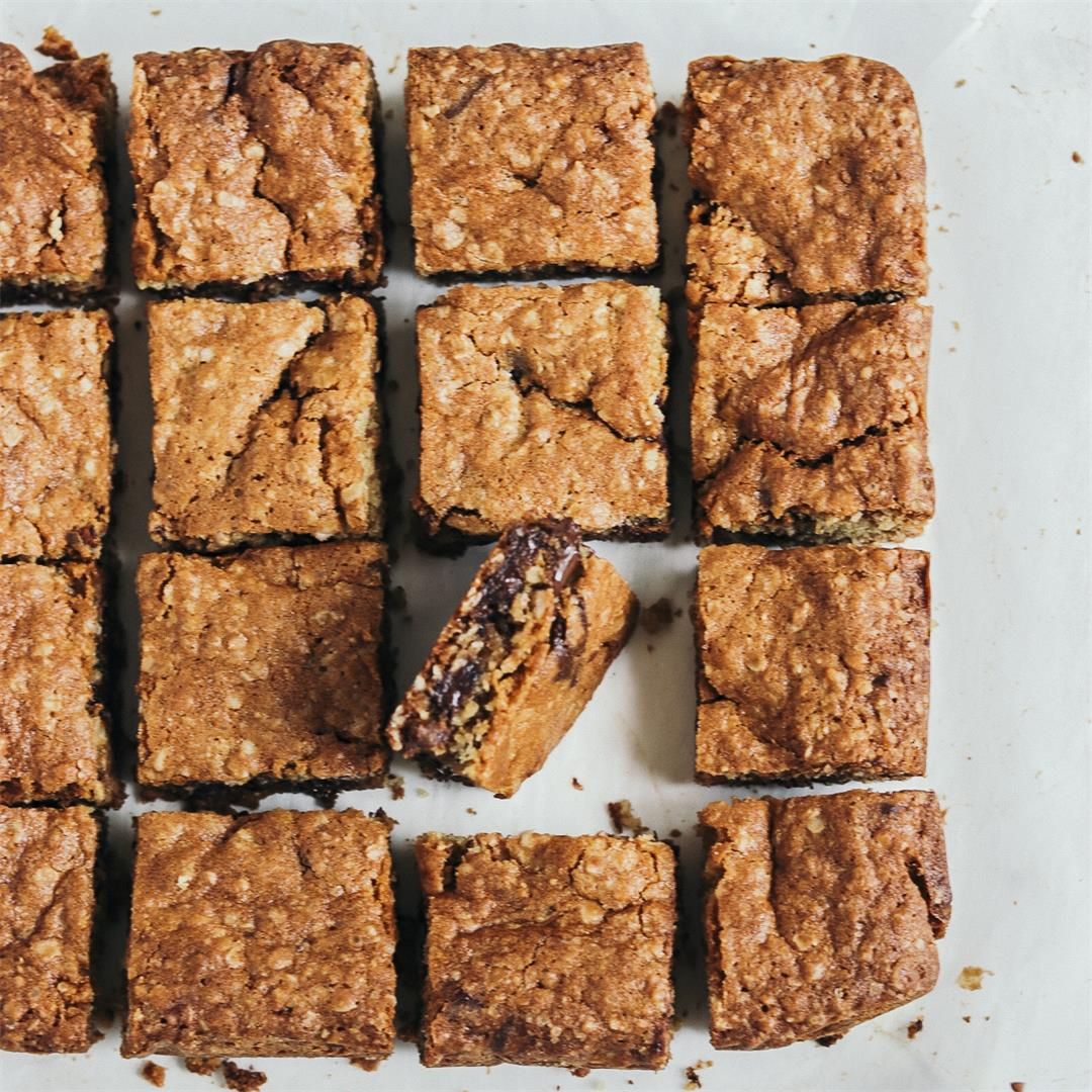 Oatmeal Dark Chocolate Squares