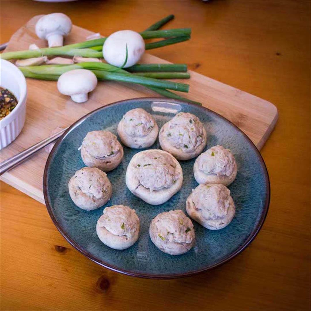 AIP Asian Stuffed Mushrooms Recipe