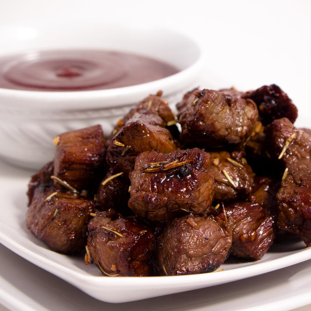 Fun twist on a classic steak, Honey Balsamic Steak Bites
