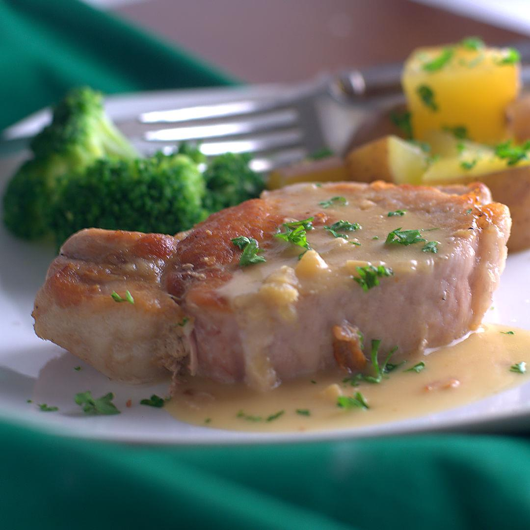 Instant Pot® Pork Chops with Ginger Cream Sauce