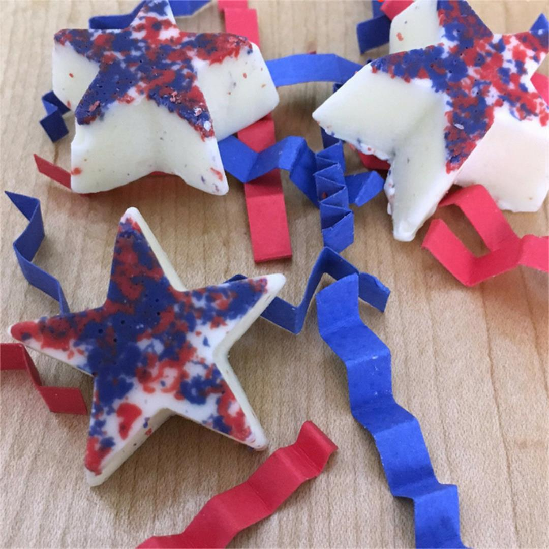 Homemade Red, White, And Blue Chocolate Stars